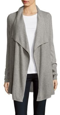 Long Draped Open-Front Jacket $179 thestylecure.com