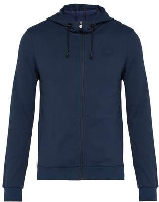 Iffley Road - Fife Hooded Jersey Track Top - Mens - Navy