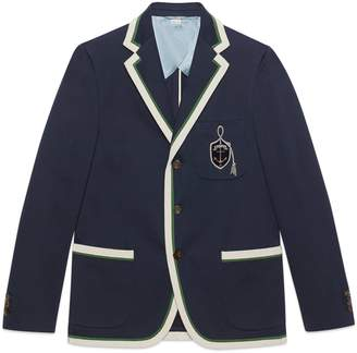 Gucci Cotton wool jacket with anchor crest