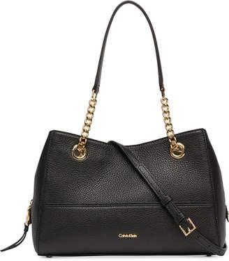 Calvin Klein Marie Leather Satchel