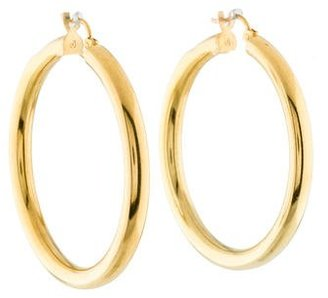 14K Hoop Earrings $425 thestylecure.com