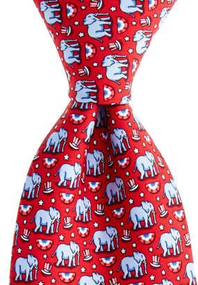 Vineyard Vines Elephants Printed Tie