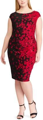 Chaps Plus Size Floral Sheath Dress