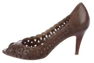Marc Fisher Leather Peep-Toe Pumps