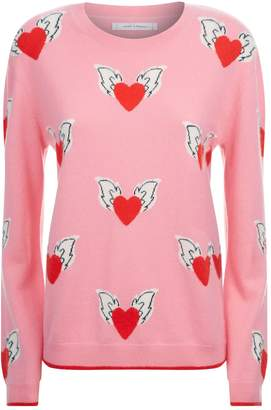 Chinti and Parker Juliet Hearts Cashmere Sweater