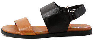 Django & Juliette New Harlem Tan Black Womens Shoes Casual Sandals Sandals Flat