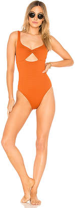 Peony Swimwear Twist One Piece