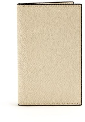 Valextra Bi Fold Leather Cardholder - Mens - Cream