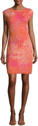 M Missoni Cap-Sleeve Jacquard Sheath Dress, Multi