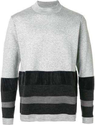 White Mountaineering colour-block striped sweater