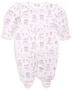 Kissy Kissy Baby Girl's Parisian Promenade Footie Pajamas