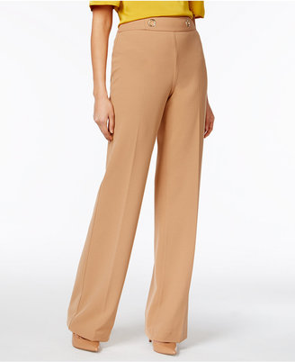 INC International Concepts High-Waist Wide-Leg Trousers, Only at Macy's $79.50 thestylecure.com