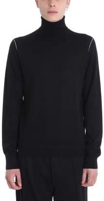 Helmut Lang Black Wool Turtle Neck Sweater