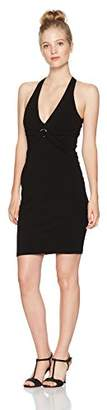 My Michelle Women's Halter Neck Dress with D-Ring