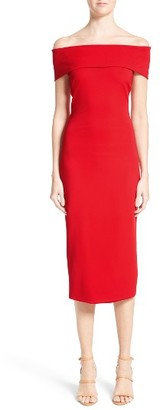 Women's Cushnie Et Ochs Off The Shoulder Pencil Dress $1,395 thestylecure.com