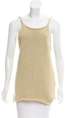 Hache Knit Sleeveless Top