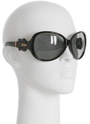 Fendi black oversized buckle sunglasses