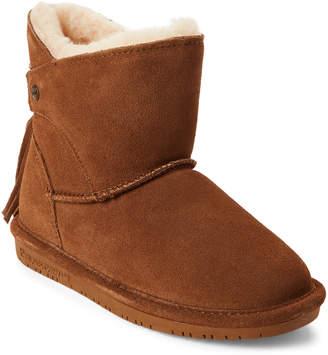 BearPaw Kids Girls) Hickory Mia Real Fur Tassel Boots