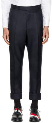 Thom Browne Navy Classic Selvedge Backstrap Trousers