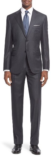 CanaliMen's Canali Classic Fit Stripe Wool Suit