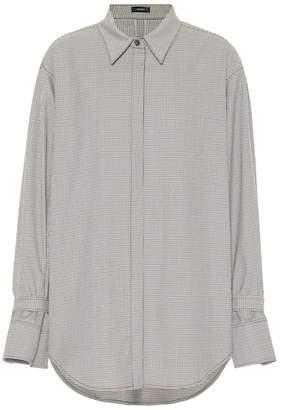 Joseph Checked wool-blend shirt