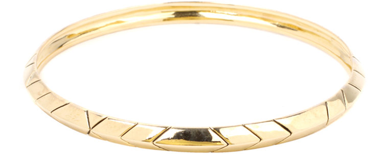 House of Harlow 1960 14ct Yellow Gold Plated Thin Stack Bangle
