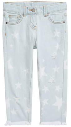 Stella McCartney Star Pattern Distressed Jeans