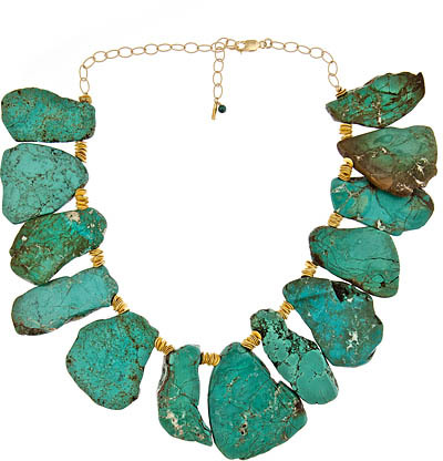 MINU Jewels Turquoise Slice Necklace