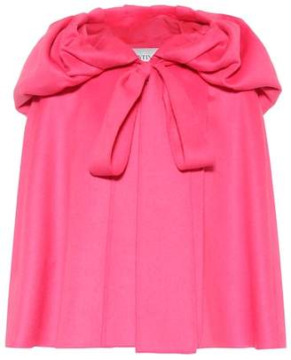 Valentino Hooded wool-blend cape