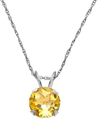 10k White Gold Citrine Pendant