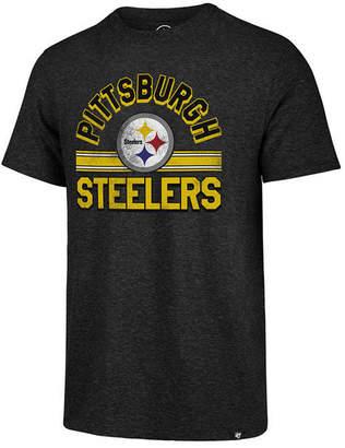 '47 Men's Pittsburgh Steelers Team Stripe Match Tri-Blend T-Shirt