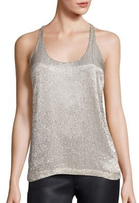 Polo Ralph Lauren Beaded Racerback Tank Top $298 thestylecure.com
