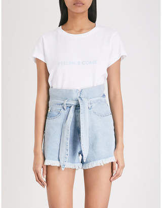 Wildfox Couture Feelings Come cotton-jersey T-shirt