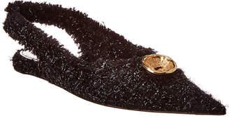 Balenciaga Tweed Slingback Flat