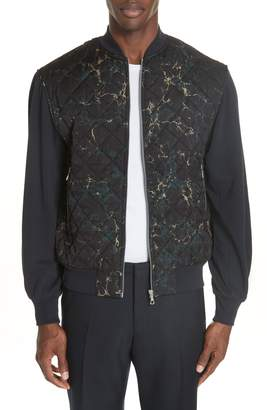 Dries Van Noten Quilted Fleece Bomber Jacket