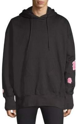 Y-3 Cotton Flower Hooded Sweatshirt
