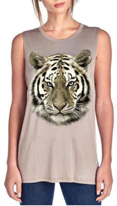 Color Bear Tiger Face Tank