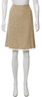 Prada Metallic Tweed Skirt