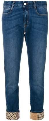 Stella McCartney retro checked straight jeans