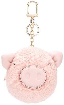 Tory Burch Shell fluffy keychain