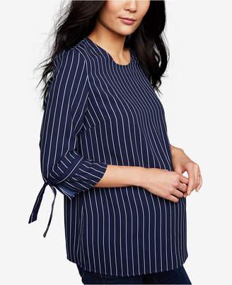 A Pea in the Pod Maternity Striped Blouse