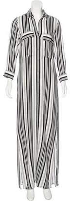 LA't by L'Agence Striped Maxi Shirtdress