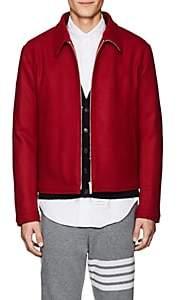 Thom Browne Men's Button-Detailed Wool Melton Jacket-Red