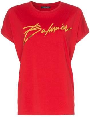 Balmain Foil Logo T-Shirt