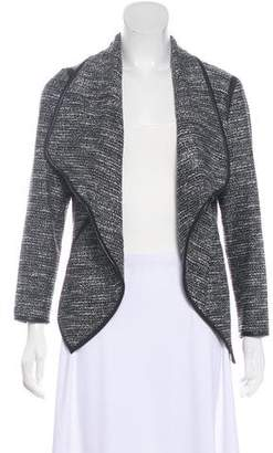 Yigal Azrouel Leather-Trim Open-Face Jacket