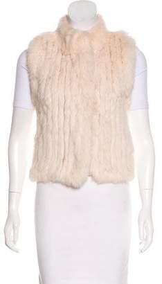 Haute Hippie Fur-Paneled Wool Vest