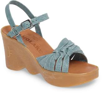 58dd8a0807 Famolare Knot So Fast Wedge Sandal