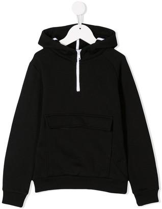 Paolo Pecora Kids half zip hoodie