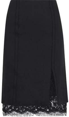 Giambattista Valli Layered Crepe And Lace Skirt