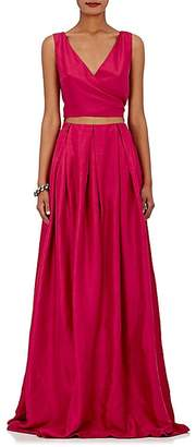 Azeeza Women's Dupioni Wrap Gown